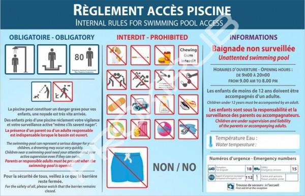 R glement d 39 acc s piscine signal tique proxipub for Exemple de reglement interieur